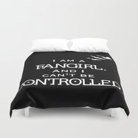 fangirl Duvet Covers featuring Uncontrollable Fangirl by Oh the Book Feels!