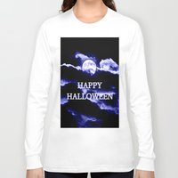 halloween Long Sleeve T-shirts featuring Halloween by WhimsyRomance&Fun