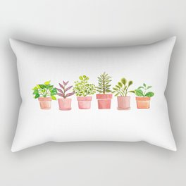 Indoor Plant Collection/Pothos/Philadendron/TradscantiaNanouk/Hoya/BearsPaw/Senecio Crassissimus Rectangular Pillow