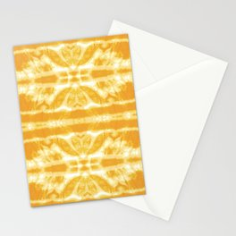 Yellow Tie Dye Twos Stationery Cards