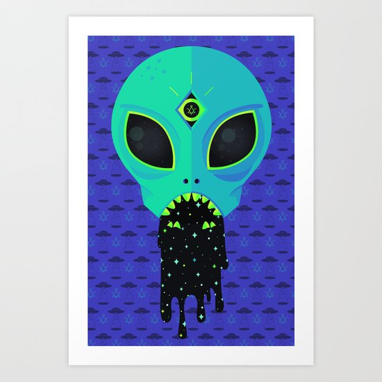 Alien Flu Art Print