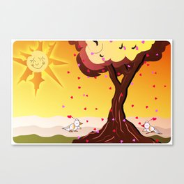 Under the tree part II Canvas Print