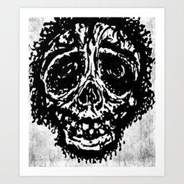 """Sticky Skull"" Art Print"