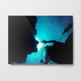 Crystal Rays Metal Print