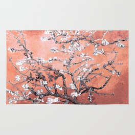 Van Gogh Almond Blossoms : Deep Peach Rug