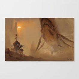 Encounter In The Deep Desert Canvas Print