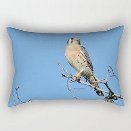 A Kestrel Says Hello Rectangular Pillow