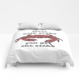Mess with crabbo Comforters