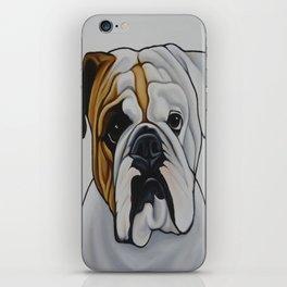 English Bulldog Pet Portrait Painting  iPhone Skin