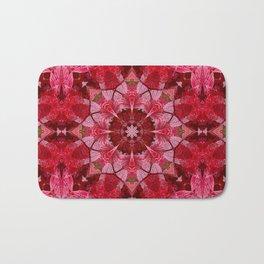 Red autumn leaves kaleidoscope - Cranberrybush Viburnum Bath Mat