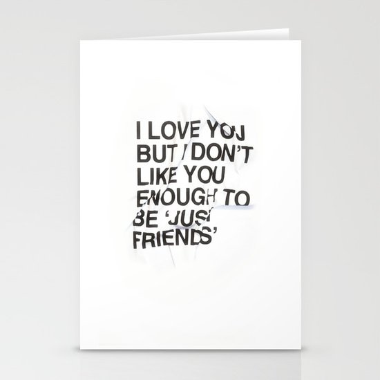 Just Friends Stationery Cards