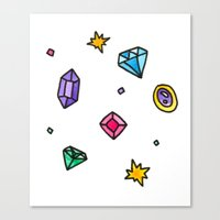 gem Canvas Prints featuring Gem by Madi Moon