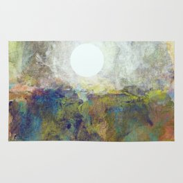 Colorful Sea and Bright Moon Rug
