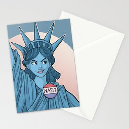 Nasty Lady Liberty Stationery Cards