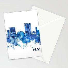 Hai Phong Vietnam Skyline Blue Stationery Cards