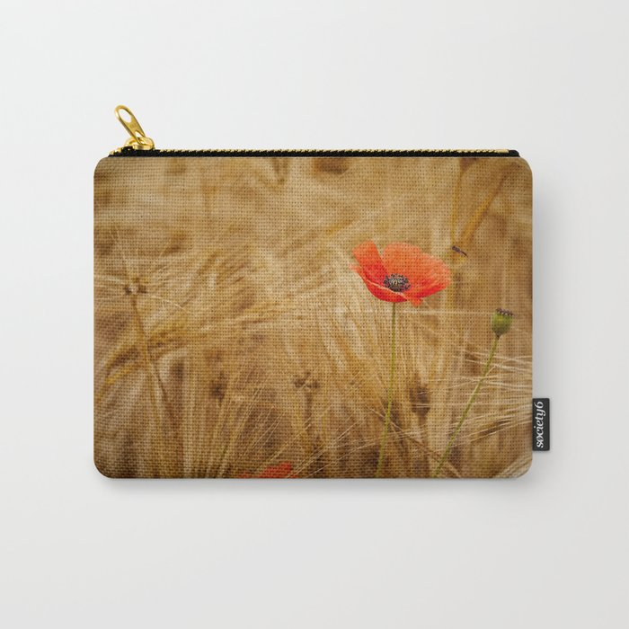 Beautiful poppy in a field - Poppies Summer Carry-All Pouch