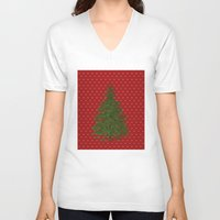 christmas tree V-neck T-shirts featuring *(Christmas) Tree* by Mr and Mrs Quirynen