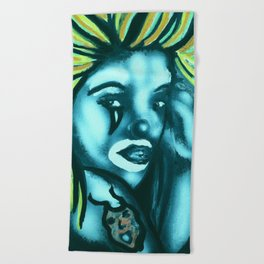 Mask Beach Towel