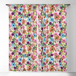 Colorful floral pattern Blackout Curtain