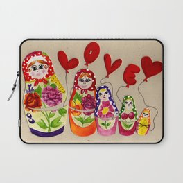 From Russia with Love Russian Dolls Laptop Sleeve