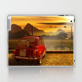 Vintage Car In The Sunset Laptop & iPad Skin