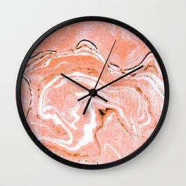 Coral Blush Marble #society6 #decor #buyart Wall Clock