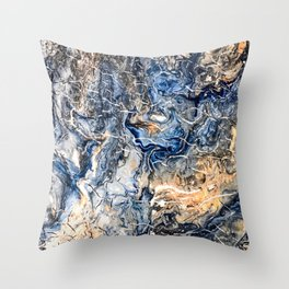 Breaking Waves Abstract Painting Throw Pillow