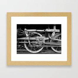 locomotive wheels Framed Art Print