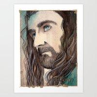 thorin Art Prints featuring Thorin by Kinko-White