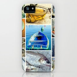 Seafood Collage Cafe Kitchen Decor iPhone Case