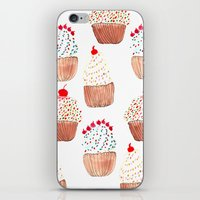 cupcakes iPhone & iPod Skins featuring Cupcakes by Bouffants and Broken Hearts