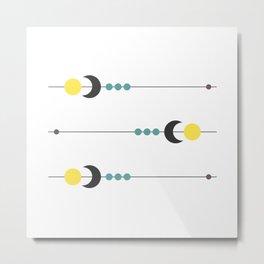 Sun Moon Planets Metal Print