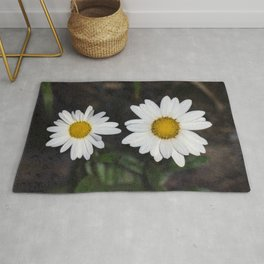 Old And Young Daisies Texture Rug