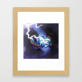 Rainbow Dash Ligntning Framed Art Print