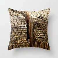 tree rings Throw Pillows featuring Tree Rings by tracy-Me