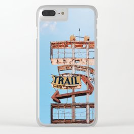 Vintage Neon Sign - The Spanish Trail -  Tucson Clear iPhone Case
