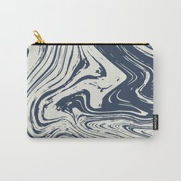 Blue marble abstract texture Pattern Carry-All Pouch