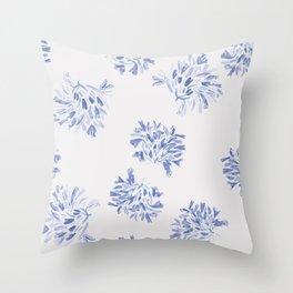 Watercolor blue agapanthus Throw Pillow
