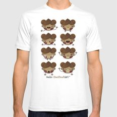 Chestnut Girl Mood MEDIUM Mens Fitted Tee White