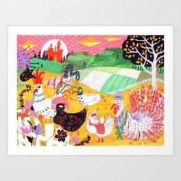 Chicken Licken Art Print