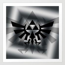The Legend Of Zelda Logo Art Print