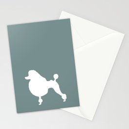 Poodle Blue | Dogs Stationery Cards