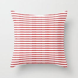 Red Scallop Throw Pillow
