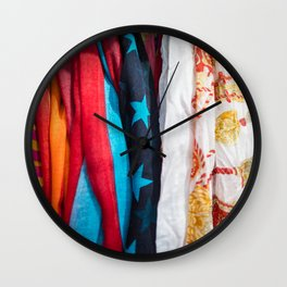 Scarves Wall Clock