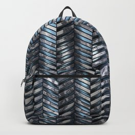 Alien Columns - White and Blue Backpack