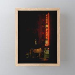 Late Night Park - New York City Framed Mini Art Print