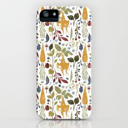Magical garden vegetables with mandrake. iPhone Case