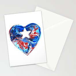 Puerto Rican Heart Stationery Cards