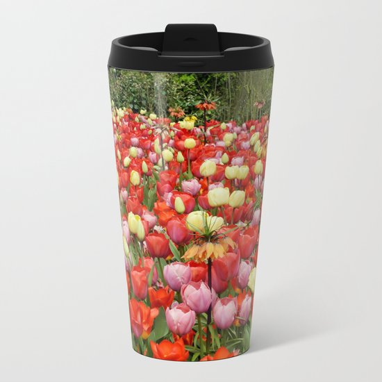 Colorful Tulips #2 Metal Travel Mug