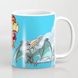FLUFFY DINO CHASING A BIRB Coffee Mug